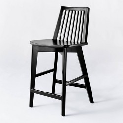 Linden Modified Windsor Wood Counter Height Stool - Threshold™ designed with Studio McGee
