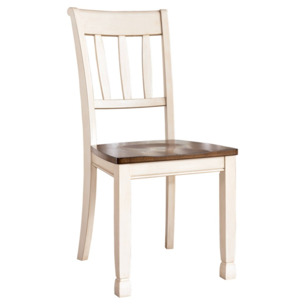 Image of 2pc Whitesburg Dining Room Side Chair Cottage White - Signature Design by Ashley