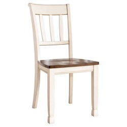 2pc Whitesburg Dining Room Side Chair Cottage White - Signature Design by Ashley