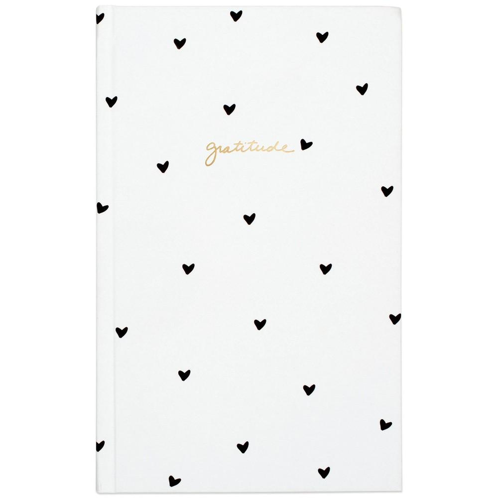 Sugar Paper 8482 Lined Journal Gratitude Black Hearts