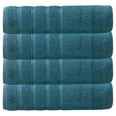 4pc Antalya Turkish Bath Towels Set Colonial Blue - Makroteks