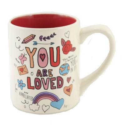"Tabletop 4.0"" Simply Mud You're Loved Mug Frendship Appreciated Enesco  -  Drinkware"