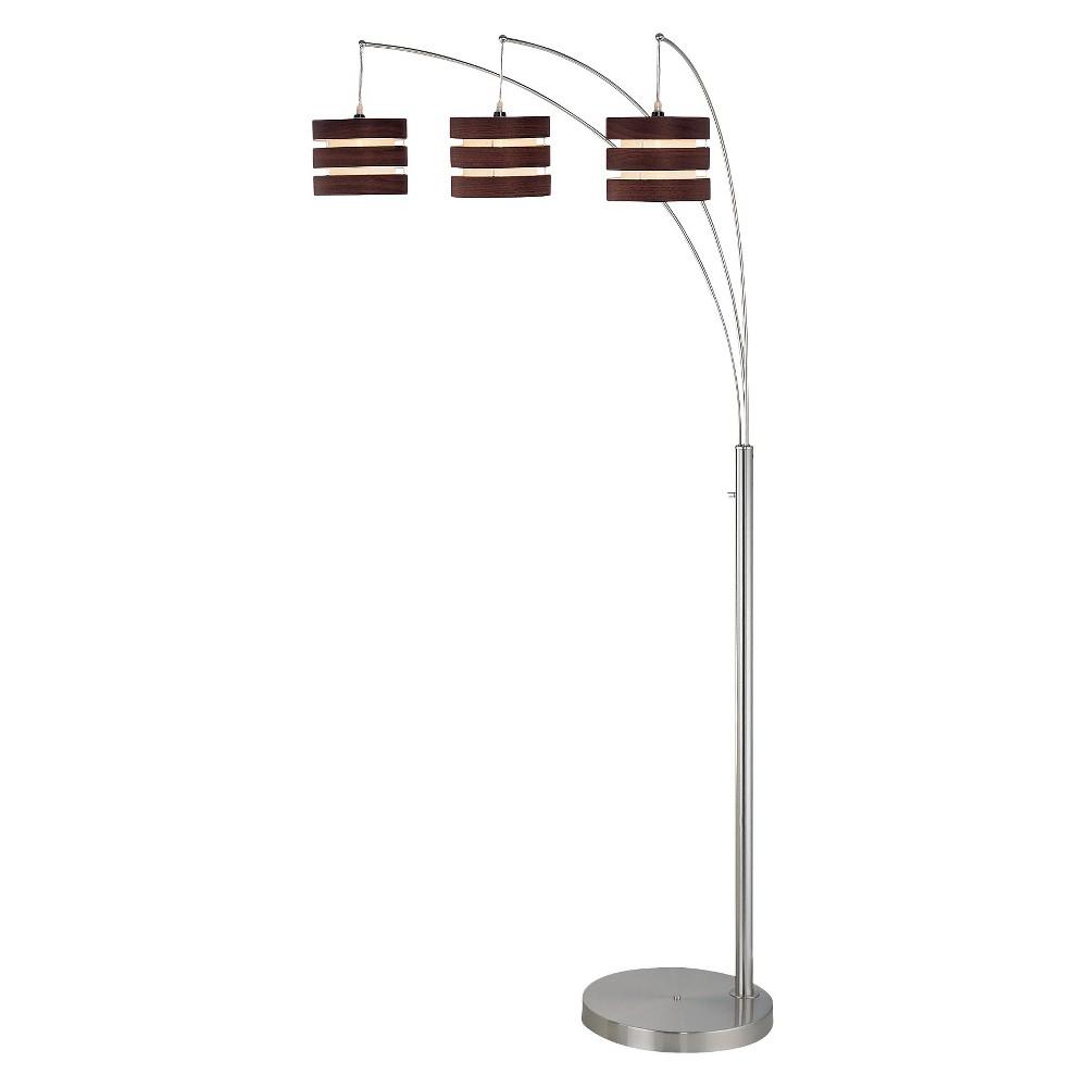 Image of 3-way Floor Lamp (Includes Light Bulb) Brown - Lite Source