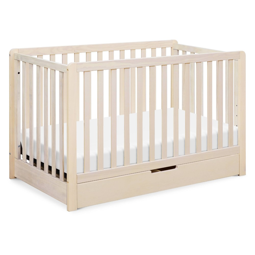Image of Carter's by DaVinci Colby 4-in-1 Convertible Crib With Trundle Drawer - Washed Natural