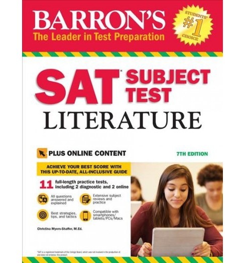 Barron's SAT Subject Test Literature (Paperback) (Christina Myers-Shaffer) - image 1 of 1