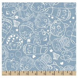 Shopkins Chambray Denim Fabric by the Yard