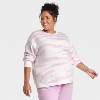 Women's Plus Size Fleece Lounge Sweatshirt - Ava & Viv™