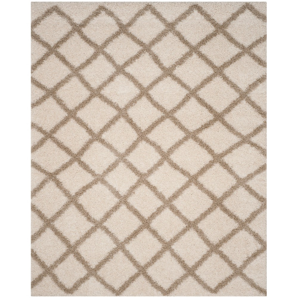 8'6X12' Geometric Loomed Area Rug Ivory/Beige - Safavieh