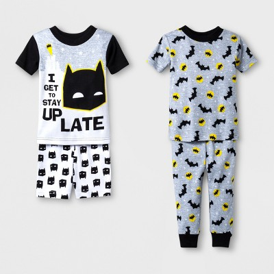 Baby Boys' Batman 4pc Pajama Set - Black 12 M