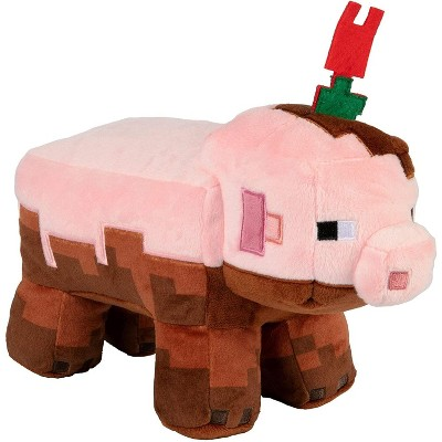 JINX Inc. Minecraft Earth Adventure Series 6.5 Inch Plush | Muddy Pig