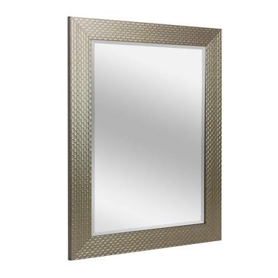 "29.5"" x 35.5"" Champagne Honeycomb Frame Mirror - Head West"