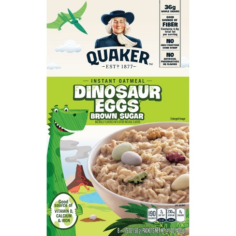 Quaker Instant Oatmeal Dinosaur Eggs Brown Sugar - 8ct - image 1 of 5