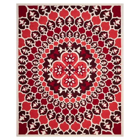 Red Ivory Medallion Tufted Area Rug 8 X10 Safavieh Target