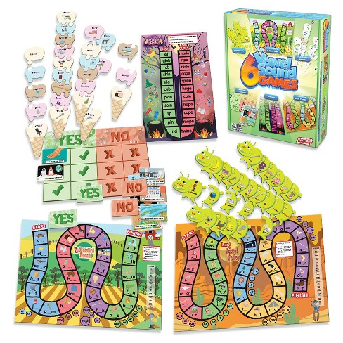 Junior Learning 6 Vowel Sound Games - image 1 of 4
