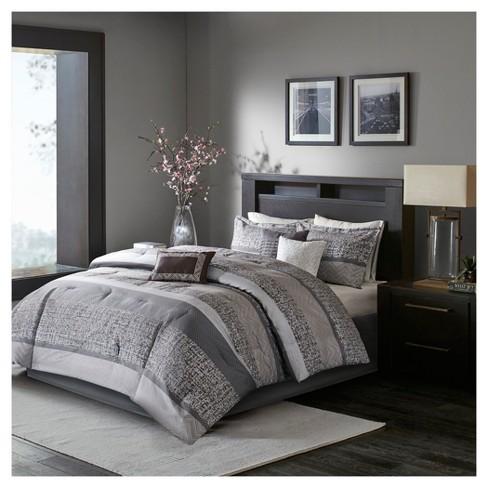 7pc Harmony Jacquard Comforter Set Gray/Taupe - image 1 of 4