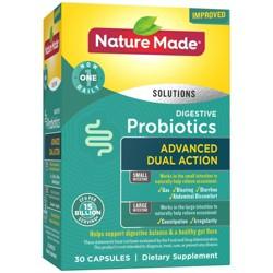 Nature Made Digestive Probiotics Advanced Dual Action Capsules - 15 Billion CFU per serving - 30ct