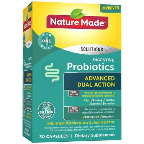 Nature Made Digestive Probiotics Advanced Dual Action Capsules - 15 Billion CFU per serving - 30ct - image 1 of 4