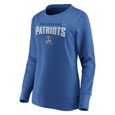 Nfl New England Patriots Women's Distressed Throwback Fleece T Shirt by Nfl