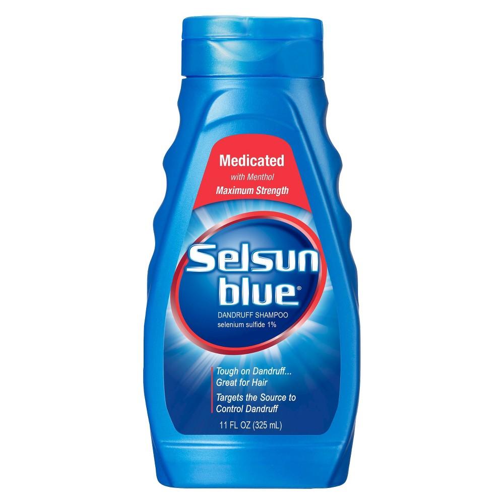 Image of Selsun Blue Medicated With Menthol Dandruff Shampoo - 11 fl oz