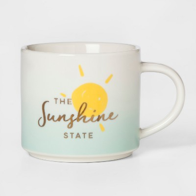16oz Stoneware The Sunshine State Mug White/Green - Threshold™