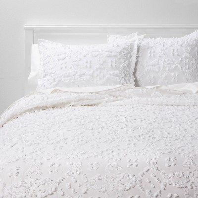 Clipped Chenille Duvet Cover & Sham Set - Threshold™
