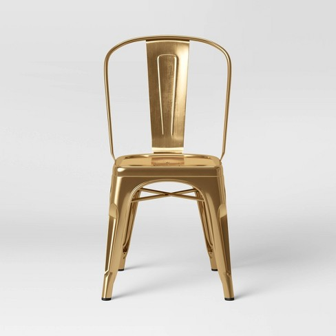 Carlisle Couture High Back Metal Dining Chair Gold - ACEssentials - image 1 of 4