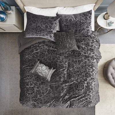 5pc Edith Faux Velvet Comforter Set Teal