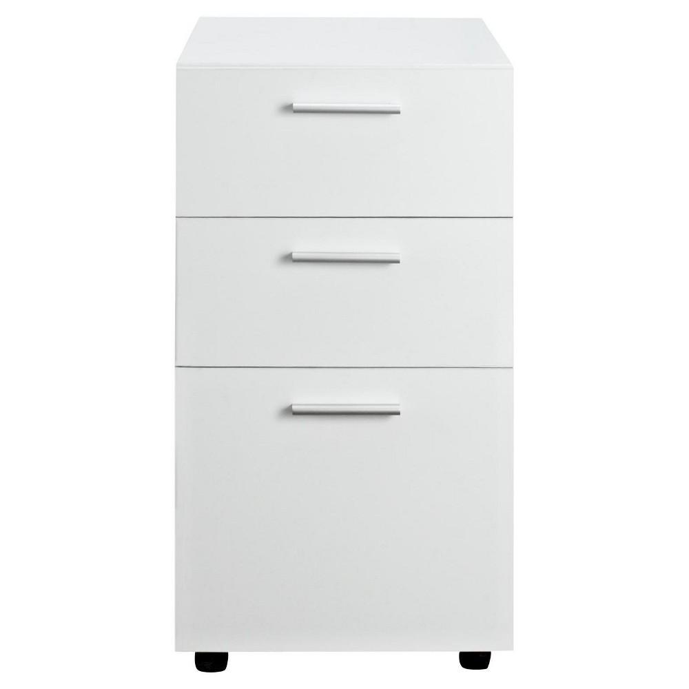 Boxwood Mobile File Cabinet White - Room & Joy