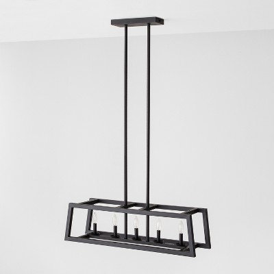 5 Bulb Chandelier - Black - Hearth & Hand™ with Magnolia