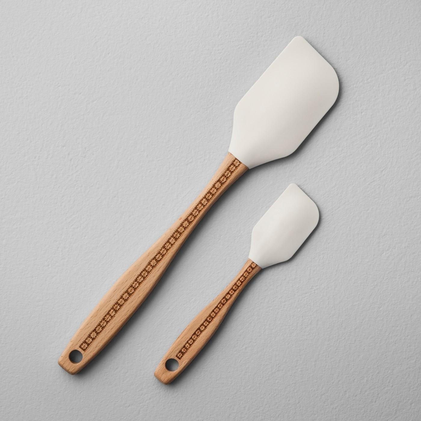 "Spatula Set of 2 - Snowflake Etch Handle - Hearth & Handâ""¢ with Magnolia - image 1 of 2"