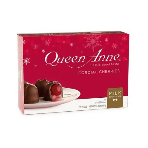 Queen Anne Milk Chocolate Cordial Christmas Cherries - 19.8oz - image 1 of 3
