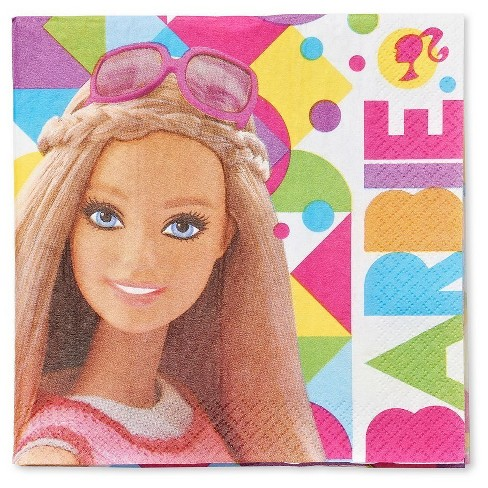 Barbie Disposable Napkins - 16ct - image 1 of 3