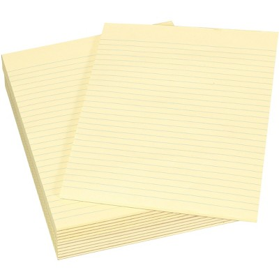 School Smart Legal Pad, 8-1/2 x 11 Inches, Canary, 50 Sheets, pk of 12