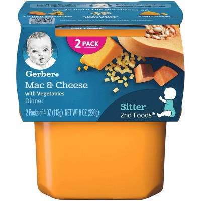Gerber Sitter 2nd Foods Mac and Cheese with Vegetables Baby Meals - 2ct/4oz Each