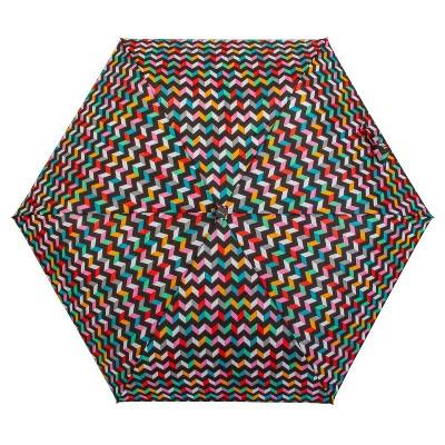 ShedRain Auto Open/Close Compact Umbrella - Chevron