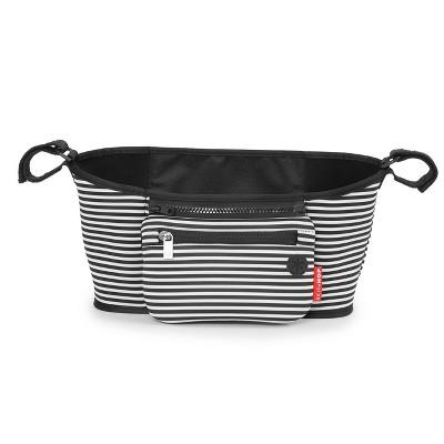 Skip Hop Grab & Go Stroller Organizer - Black & White Stripe