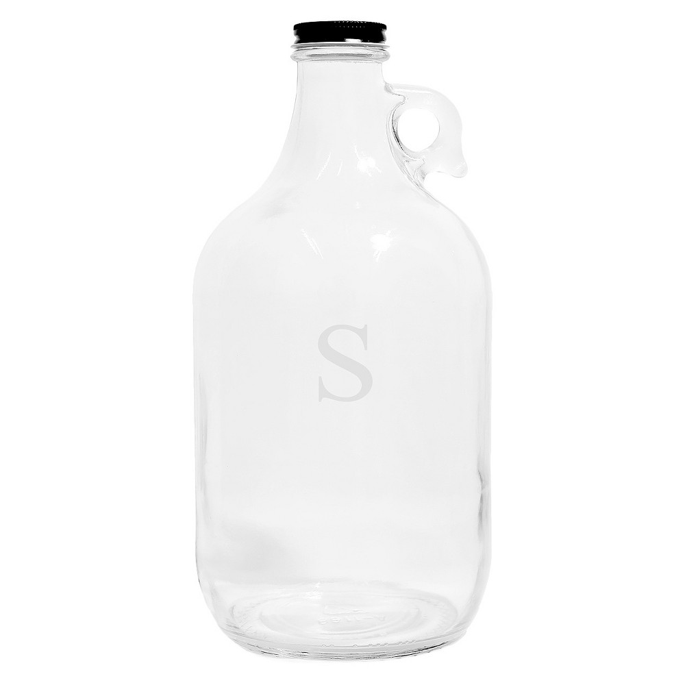 Cathy's Concepts Personalized Craft Beer Growler A-Z, Clear