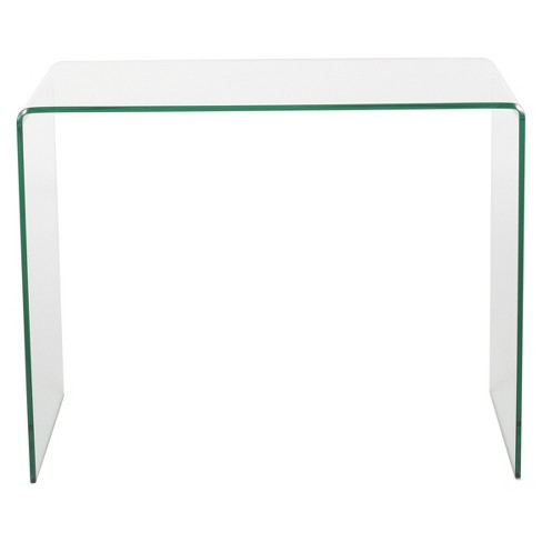 Caradoc Tempered Glass Side Table - Clear - Christopher Knight Home - image 1 of 4