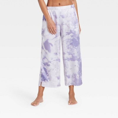 Women's Tie-Dye Satin Cropped Pajama Pants - Stars Above™