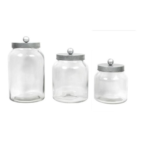 Decorative Container Set of 3 Clear 128oz/64oz/48oz - Drew DeRose - image 1 of 1