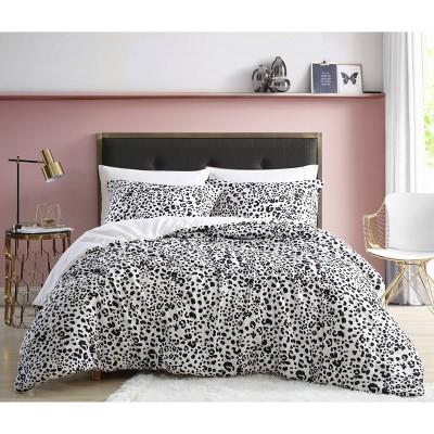 Water Leopard Duvet Cover Set Natural Beige - Betseyville