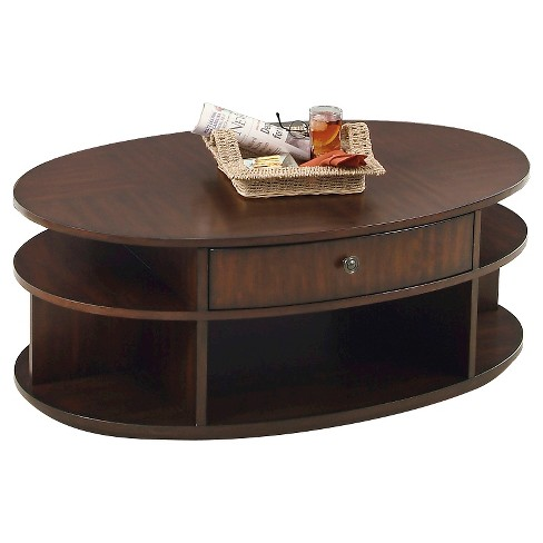 Metropolitan Coffee Table Lift-Top with Casters - Dark Cherry & Birch - Progressive Furniture - image 1 of 2