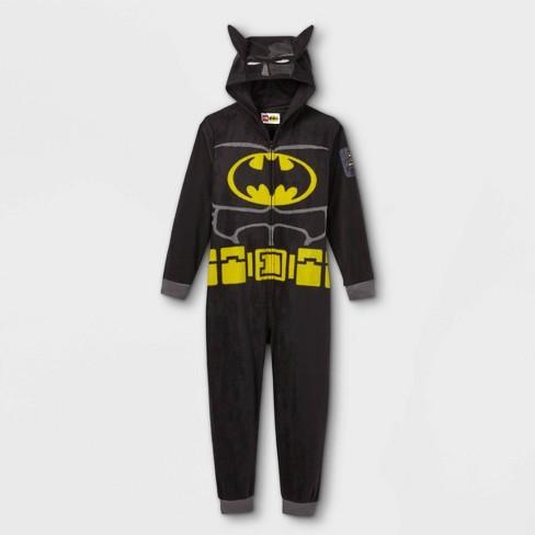 Boys' LEGO Batman Pajama Jumpsuit - Black - image 1 of 2
