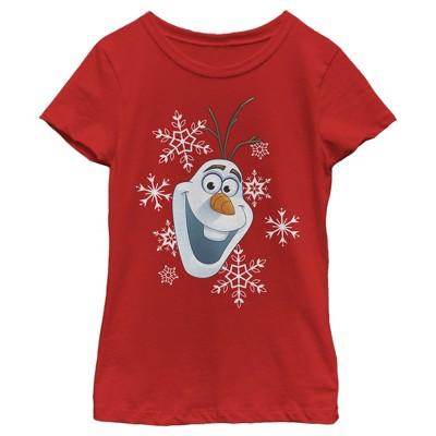 Girl's Frozen Olaf Smile T-Shirt