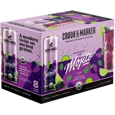 Crook & Marker Blackberry Lime Mojito - 8pk/11.5 fl oz Cans