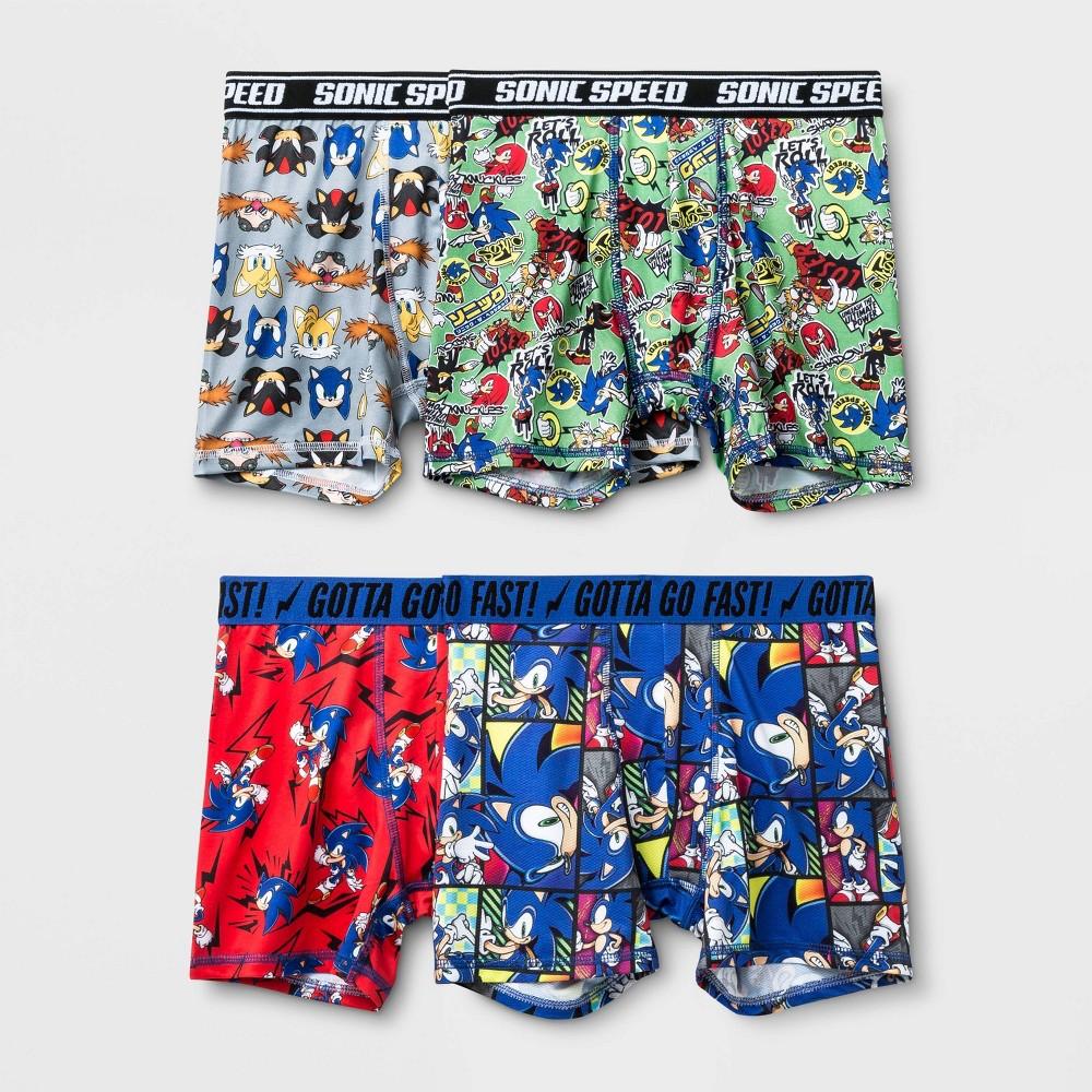 Image of Boys' Sonic 4pk Boxer Briefs - 10, Boy's, MultiColored