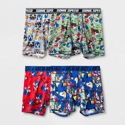 Boys 3pc Sonic The Hedgehog Boxer Briefs Sega Boxer Shorts Set Underwear