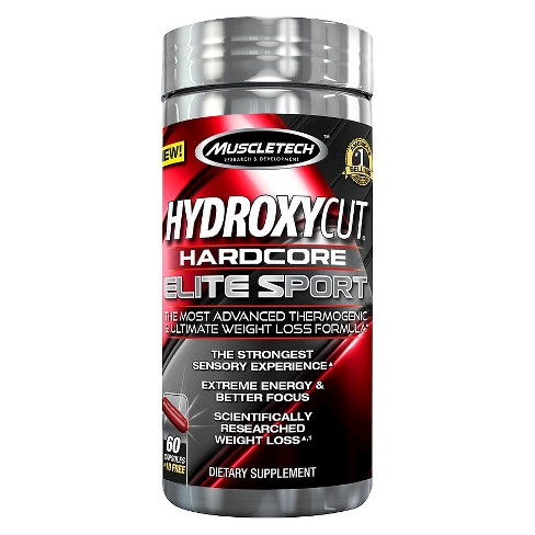 MuscleTech HydroxyCut Hardcore Elite Sport Dietary Supplement Capsules - 70ct - image 1 of 1