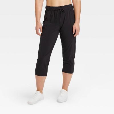 """Women's Mid-Rise Stretch Woven Tapered Leg Capri Leggings 21"""" - All in Motion™"""