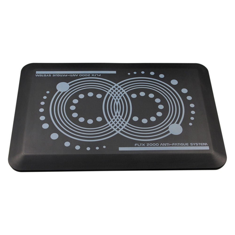 "Image of ""System 2000 Anti - Fatigue Mat Perfect for Use With Standing Desk Larger 20""""x32"""" Black - AFS-TEX"""